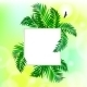 Square Card with Palm Leaves - GraphicRiver Item for Sale