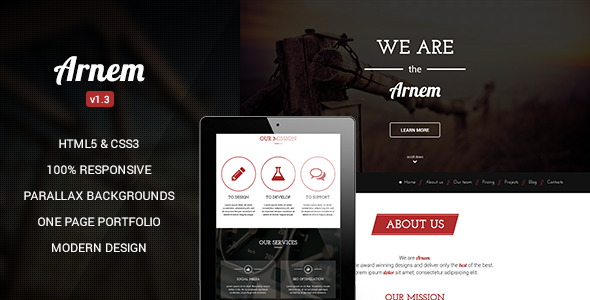 Arnem – Creative One Page Parallax Theme