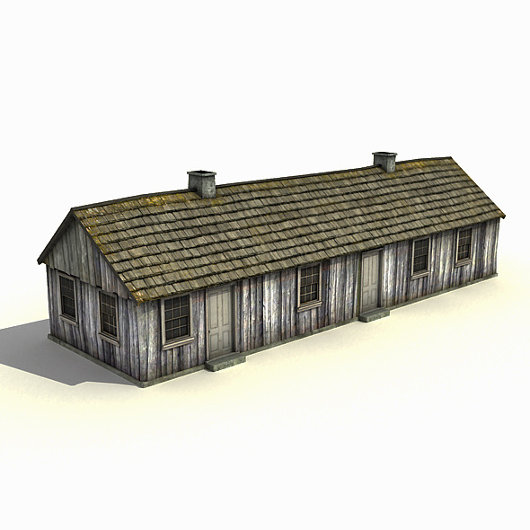 Big Wooden Barracks - 3DOcean Item for Sale