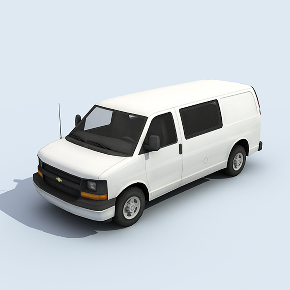 Full Size Van - 3DOcean Item for Sale