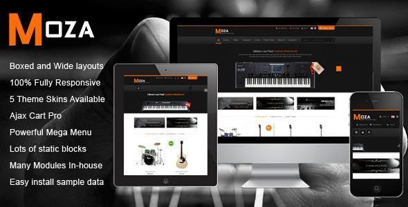 SM Moza – Responsive Multi-Store Magento Theme