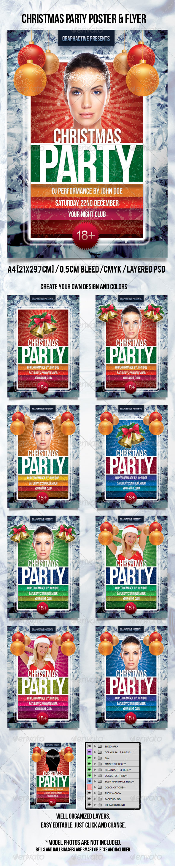 Christmas Party Poster - Clubs & Parties Events