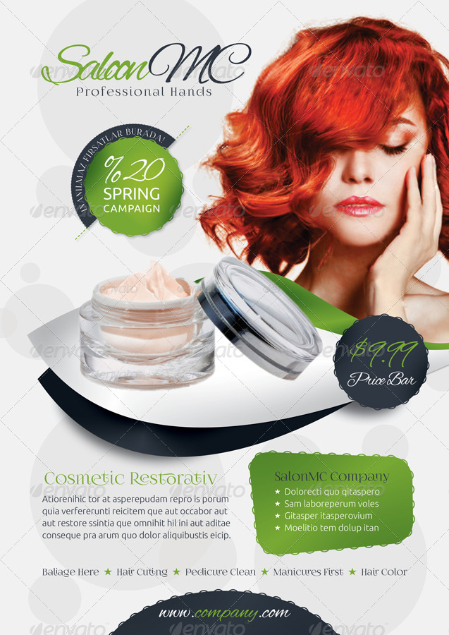 Beauty Salon Flyer Templates By Grafilker  Graphicriver