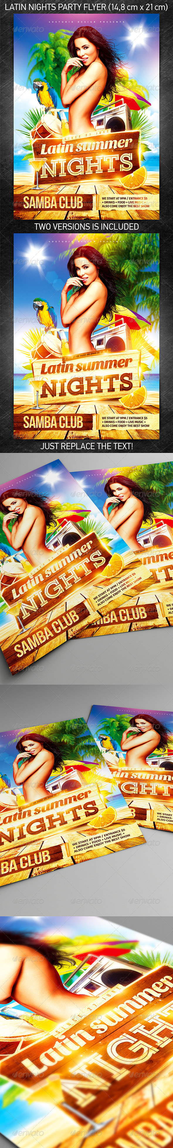 Latin Nights Party Flyer - Events Flyers