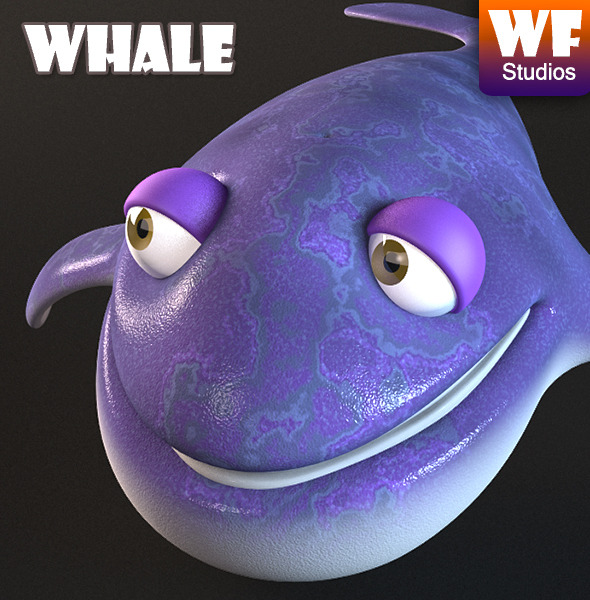 Cartoon Whale - 3DOcean Item for Sale