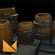 Fantasy Forge Handpainted Barrel Set - 3DOcean Item for Sale