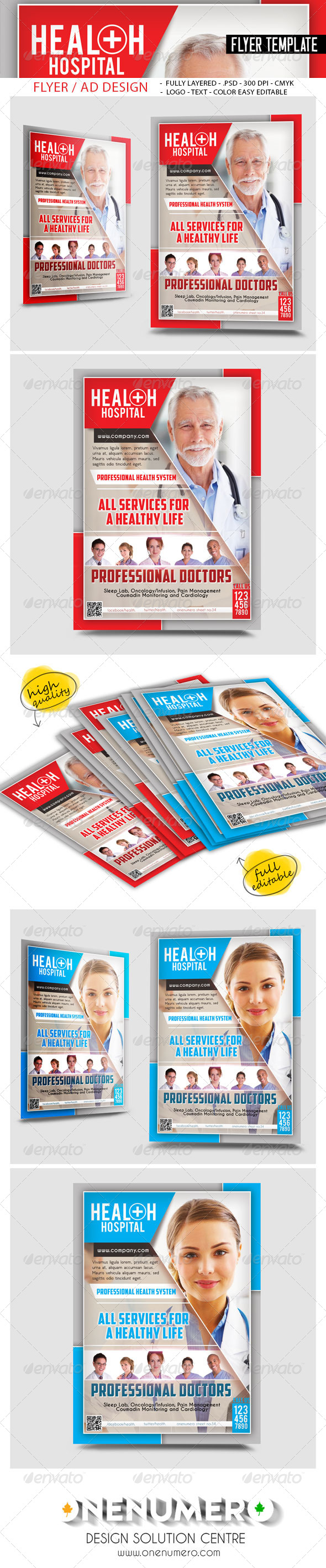 Health Hospital Flyer Templates by graphicersan – Hospital Flyer Template