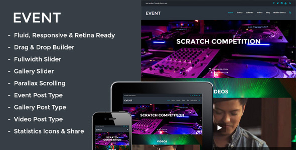 Event – Responsive Parallax Events Theme