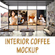 Interior Coffee Mockup-Graphicriver中文最全的素材分享平台