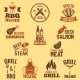 BBQ Grill Label - GraphicRiver Item for Sale