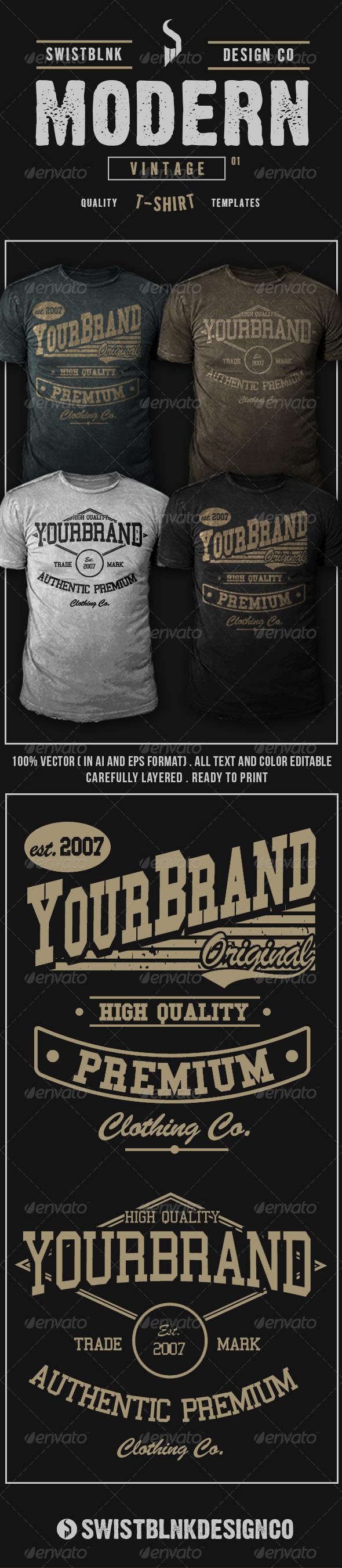 Modern Vintage T-Shirt 01 - Designs T-Shirts
