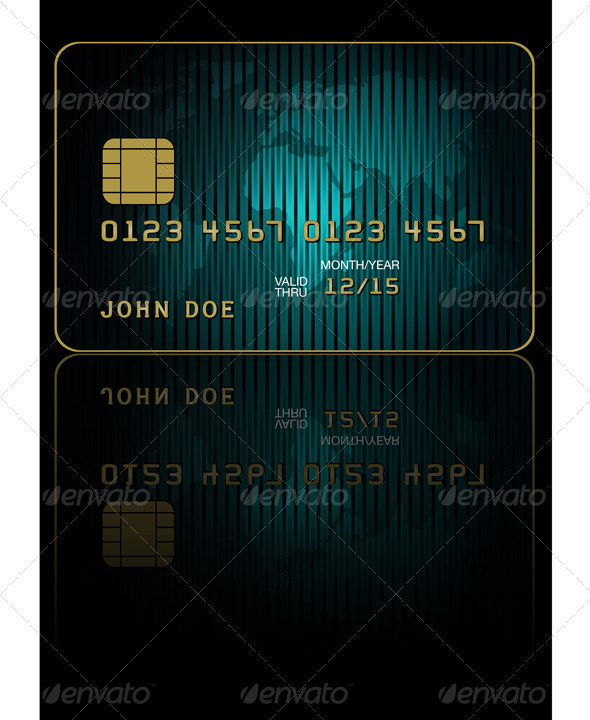Fictitious Credit Card - Commercial / Shopping Conceptual