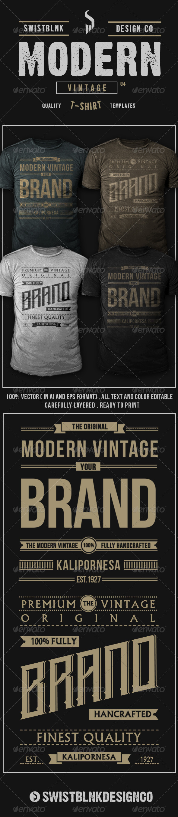 Modern Vintage T-Shirt 04 - Designs T-Shirts