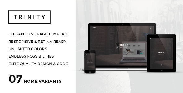 TRINITY – Elegant & Responsive One Page Parallax