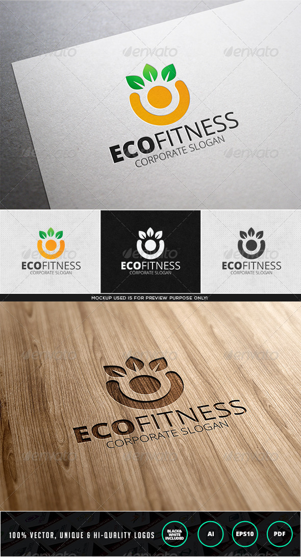 Eco Fitness Logo Template - Nature Logo Templates