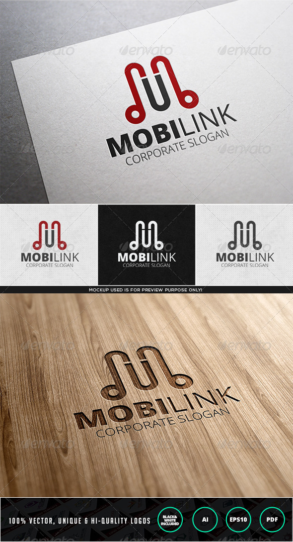 Mobilink Logo Template - Letters Logo Templates