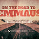 On the Road to Emmaus Church Flyer Invite Template - GraphicRiver Item for Sale