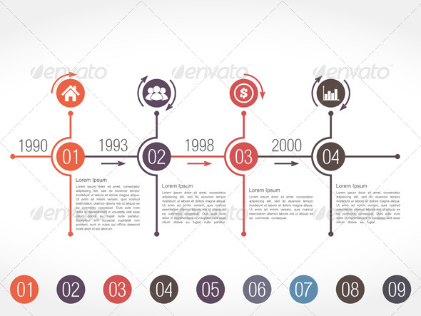 Timeline Infographics Design Template By Human GraphicRiver - Timeline design template