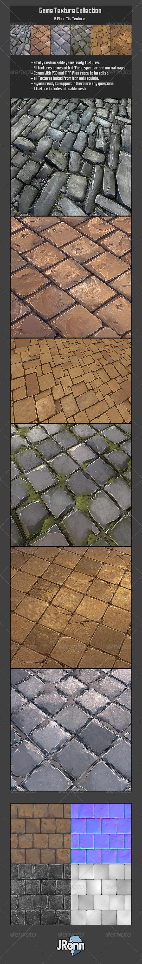 6 Rock Floor Textures01 - 3DOcean Item for Sale