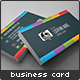 Dark Rainbow Business Card - GraphicRiver Item for Sale