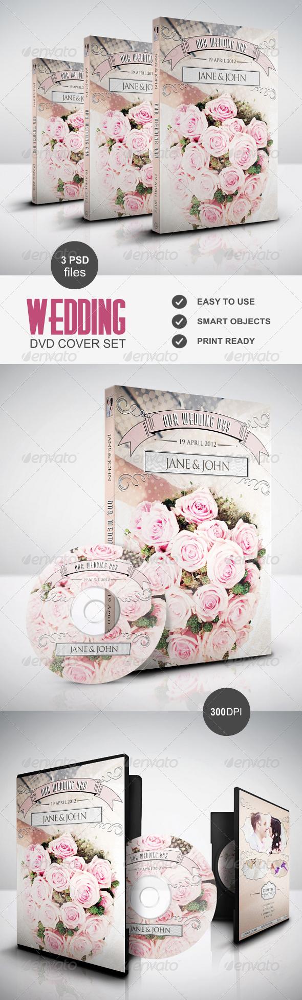 Vintage Wedding DVD Cover - CD & DVD Artwork Print Templates