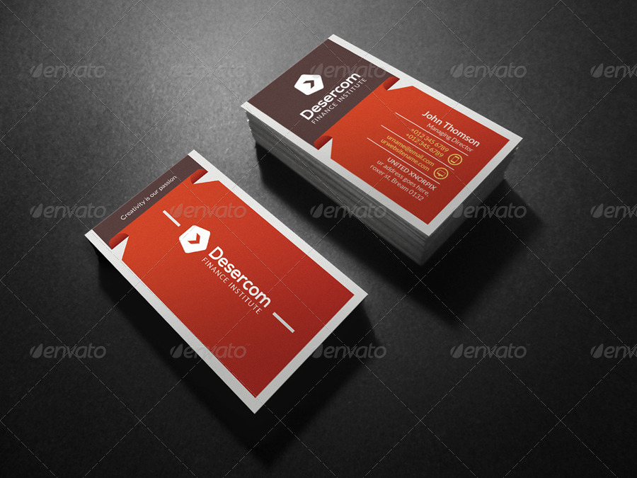 Finance Business Card by -axnorpix | GraphicRiver