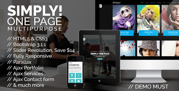 Simply One Page Multi-purpose HTML Template