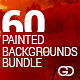 60 Painted/Watercolor Backgrounds Bundle  - GraphicRiver Item for Sale