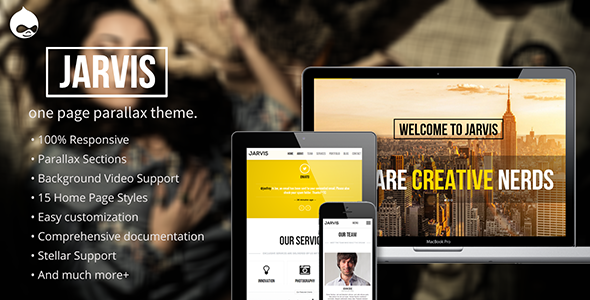 Jarvis – Onepage Parallax Drupal Theme