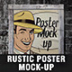 Rustic Poster Mock-Up Vol.1 - GraphicRiver Item for Sale