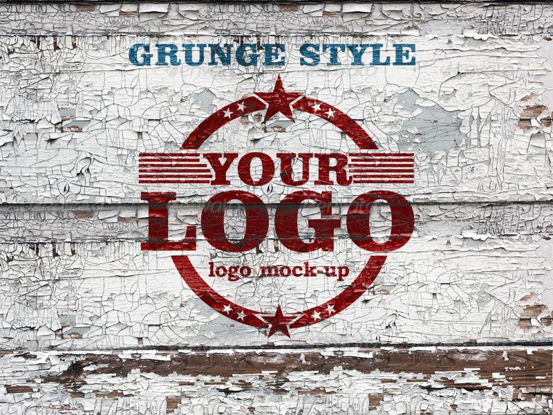 Grunge Wall Logo Mock-up