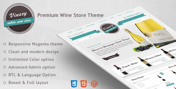 Vinary-Premium Wine Store Theme - Magento eCommerce