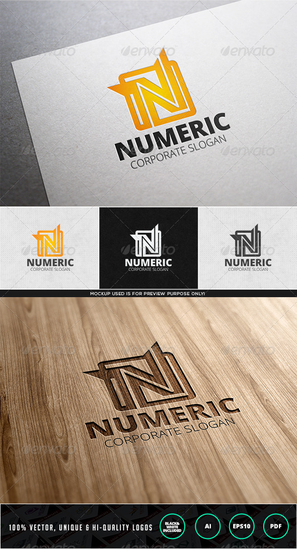 Numeric Logo Template - Letters Logo Templates