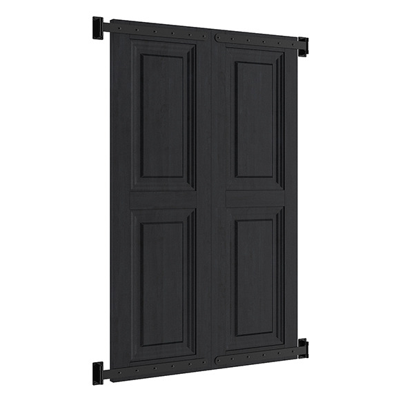 Black External Shutters - 3DOcean Item for Sale