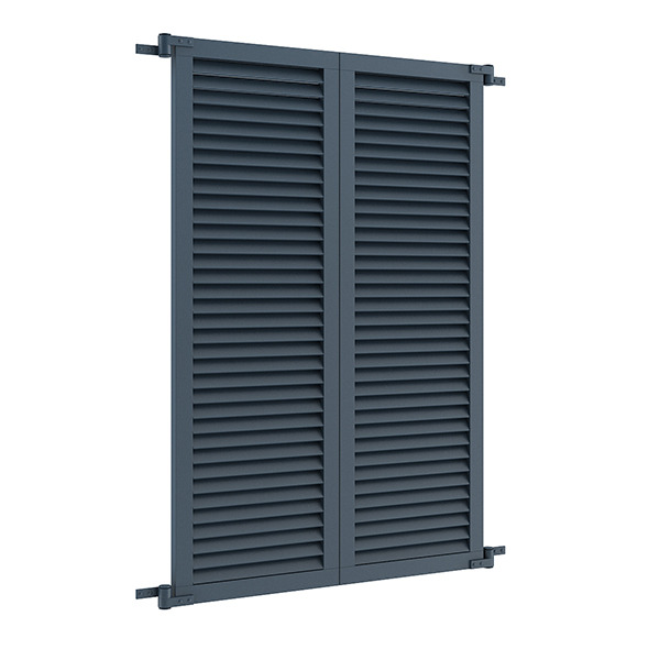 Blue External Shutters - 3DOcean Item for Sale