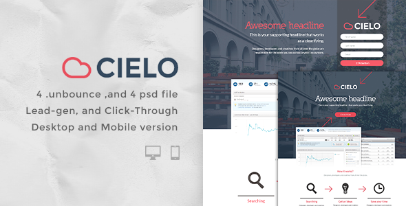 Cielo – Bundle Unbounce pages