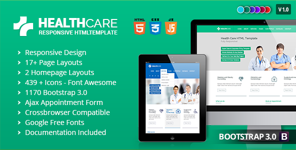 Health Care – Responsive Medical Health Template