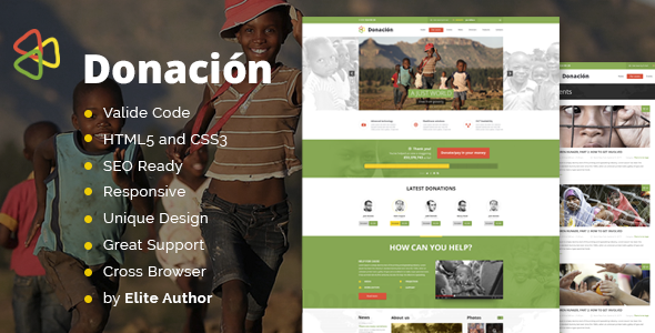 Donation Responsive HTML Template