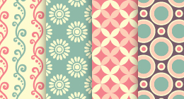 Sets seamless patterns