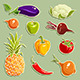 Fruits and Vegetables Set 2 - GraphicRiver Item for Sale