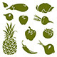 Fruits & Vegetables Silhouettes - GraphicRiver Item for Sale