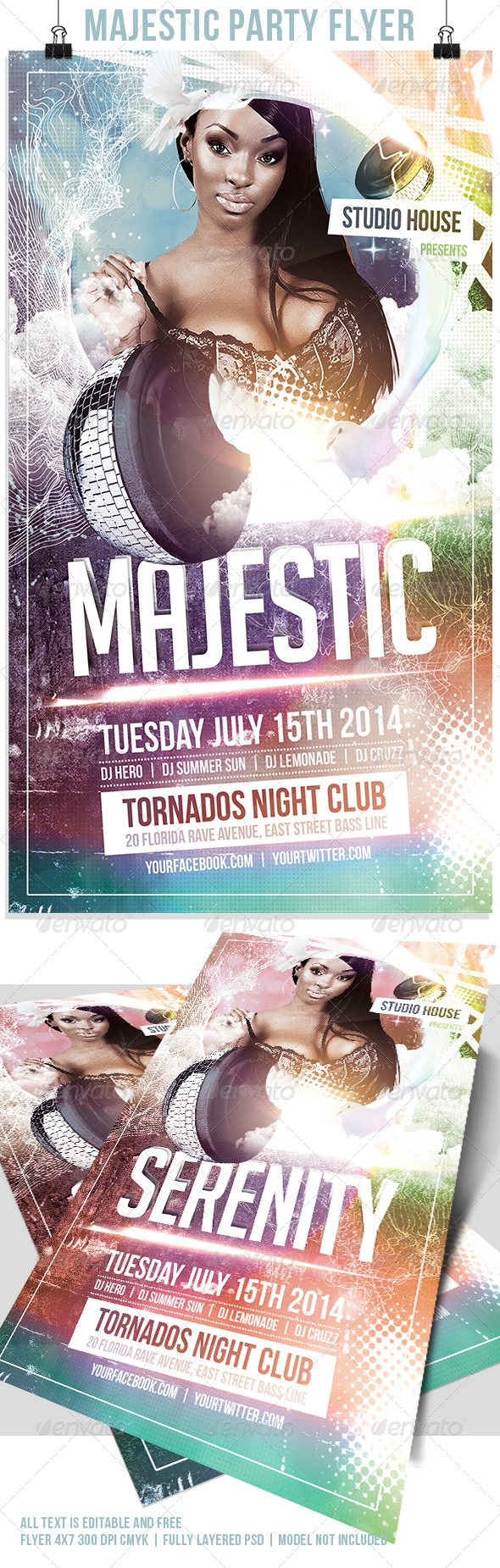 Majestic Flyer Template - Flyers Print Templates
