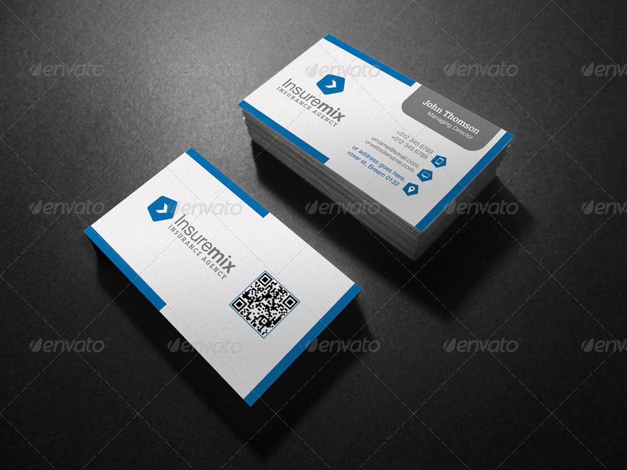 Insurance business card by axnorpix graphicriver insurance business card colourmoves