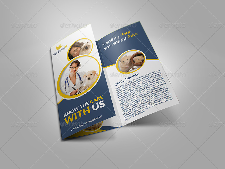 Veterinarian clinic brochure template vol 2 by owpictures for Clinic brochure template