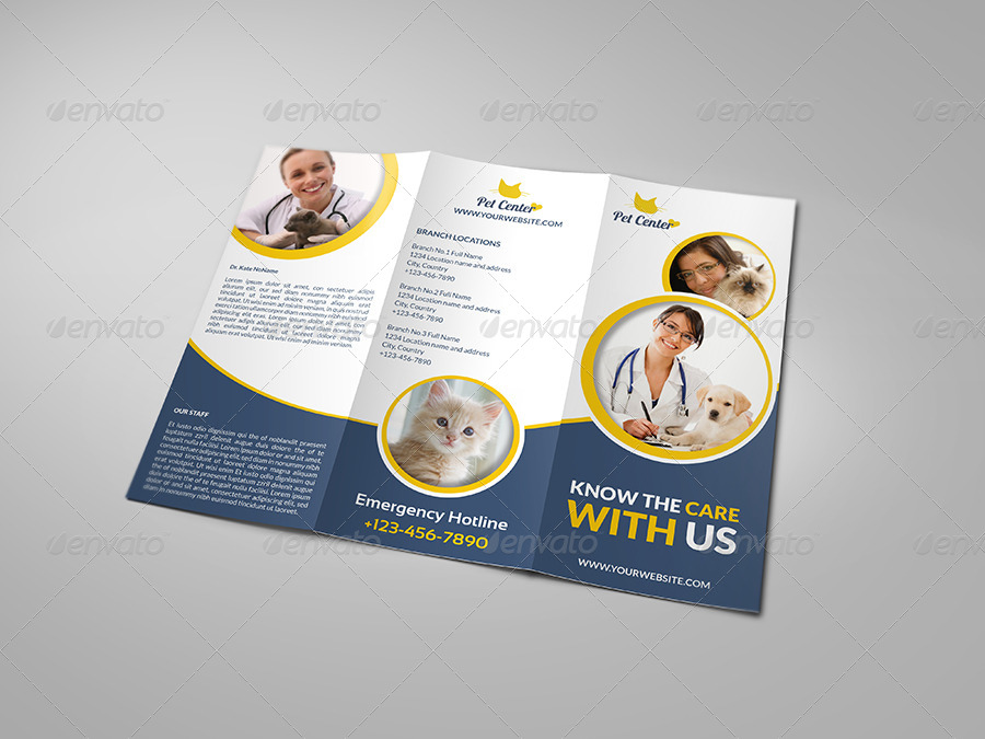 veterinarian clinic brochure template vol2