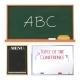 Chalkboards Set Isolated on White Background - GraphicRiver Item for Sale