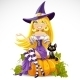Cute Young Witch - GraphicRiver Item for Sale