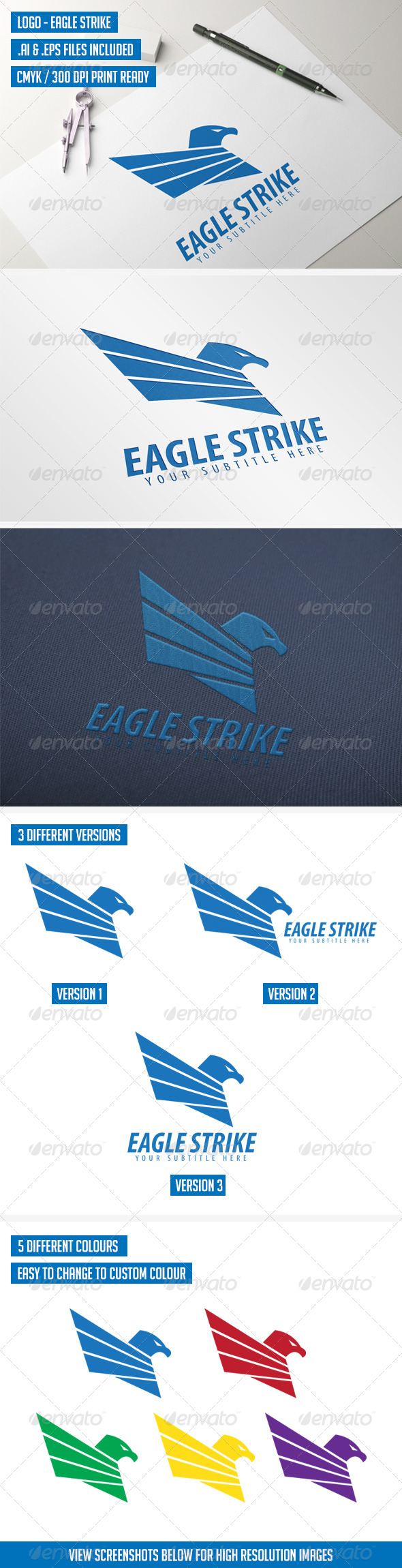 Logo Template - Eagle Strike - Animals Logo Templates