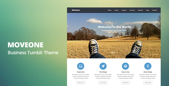 Moveone – Business Responsive Tumblr Theme