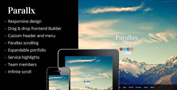 Parallax – Multipurpose Parallax Scrolling Theme
